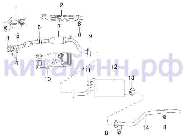 Выхлопная система GREAT WALL Hover H3