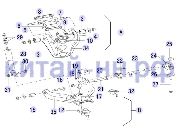 Передняя подвеска GREAT WALL Hover H5 (бензин)